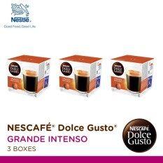 Nescafe Dolce Gusto Grande Intenso แคปซูลกาแฟ จำนวน 1 แพ็ค รวม 3 กล่อง กล่องละ 16 แคปซูล ถูก