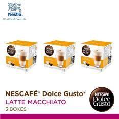 ขาย Nescafe Dolce Gusto แคปซูลกาแฟ Latte Macchiato 1 แพ็คมี 3 กล่อง กล่องละ 16 แคปซูล ถูก ใน สมุทรปราการ