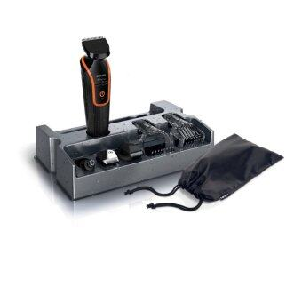 Philips ผลิตภัณฑ์ตกแต่งร่างกาย FACE กันน้ำได้ รุ่น QG3340/16 (Black/Orange)
