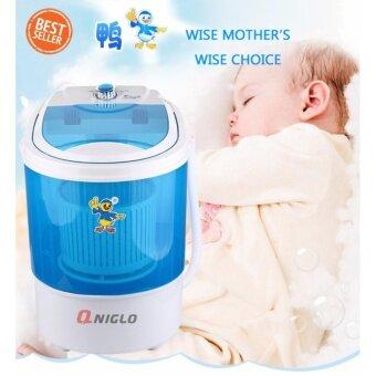 Qniglo เครื่องซักผ้ามินิ Mini Washing Machine - สีน้ำเงิน 4 KG