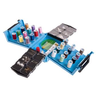 Sewing Box กล่องอุปกรณ์เย็บผ้าอเนกประสงค์ (สีฟ้า)
