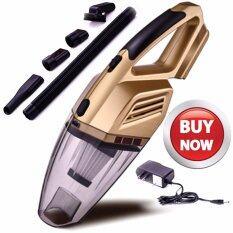 ราคา ราคาถูกที่สุด Shop108 Car Vacuum Rechargeable 12V 100W เครื่องดูดฝุ่นในรถยนตร์ไร้สายพลังงานสูง เปียก แห้ง Gold Series