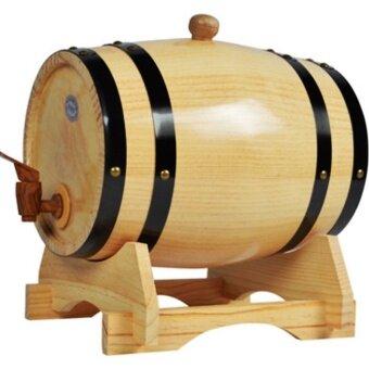 shop108 Wine Oak Barrels 10L ถังไม้โอ๊คใส่ไวน์ เบียร์ ขนาด 10 ลิตร (สีไม้)
