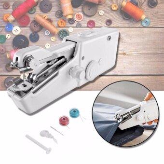 Sinlin จักรเย็บผ้าไฟฟ้ามือถือ ขนาดพกพา Handheld Sewing Machine - White