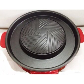 Smart Home หม้อสุกี้ บาร์บีคิว เตาปิ้งย่างอเนกประสงค์ รุ่น SP2005 (สีดำ/แดง)