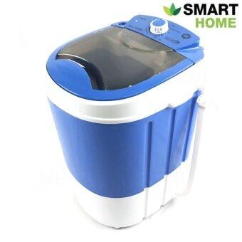 SMARTHOME เครื่องซักผ้ามินิ เครื่องซักผ้าขนาดเล็ก 2.5 Kg. รุ่น SM-MW01 - สีฟ้า