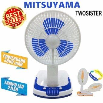 Twosister พัดลมขนาดใบ 5 นิ้ว หลอดไฟ LED 21 ดวงพัดลม+ไฟฉาย(ตรงกลาง)
