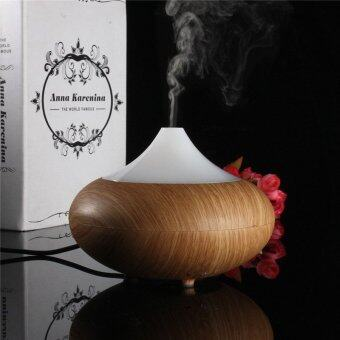 UK Plug Light wood New Arrival High Quality 100ML Wood Grain LED Ultrasonic Aroma Diffuser Air Humidifier Purifier Essential Oil Aromatherapy - intl