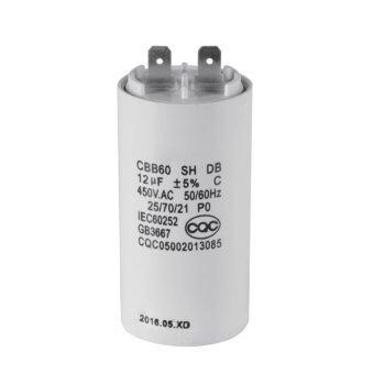 Washing Machine CBB60 12uF AC 450V Motor Run Capacitor White Shell