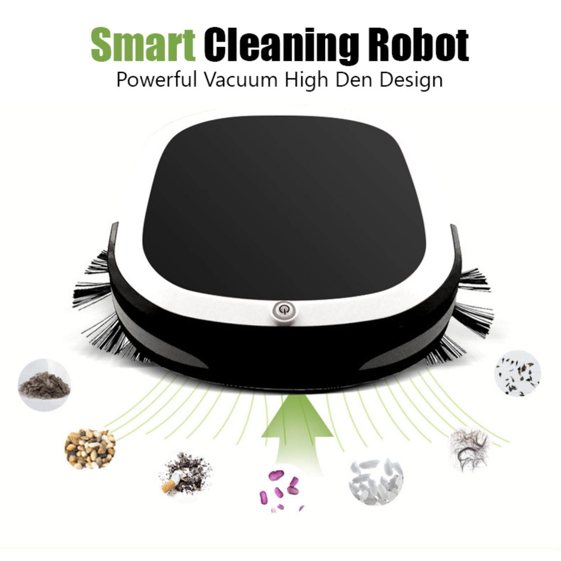 มาใหม่ล่าสุด YOYOCAM เครื่องดูด หุ่นยนต์ ดูดฝุ่น ถูพื้น อัตโนมัติRobot Vacuum Cleaner + 2 PCS  ผ้าถู (สีดำ) คูปองส่วนลด 2019