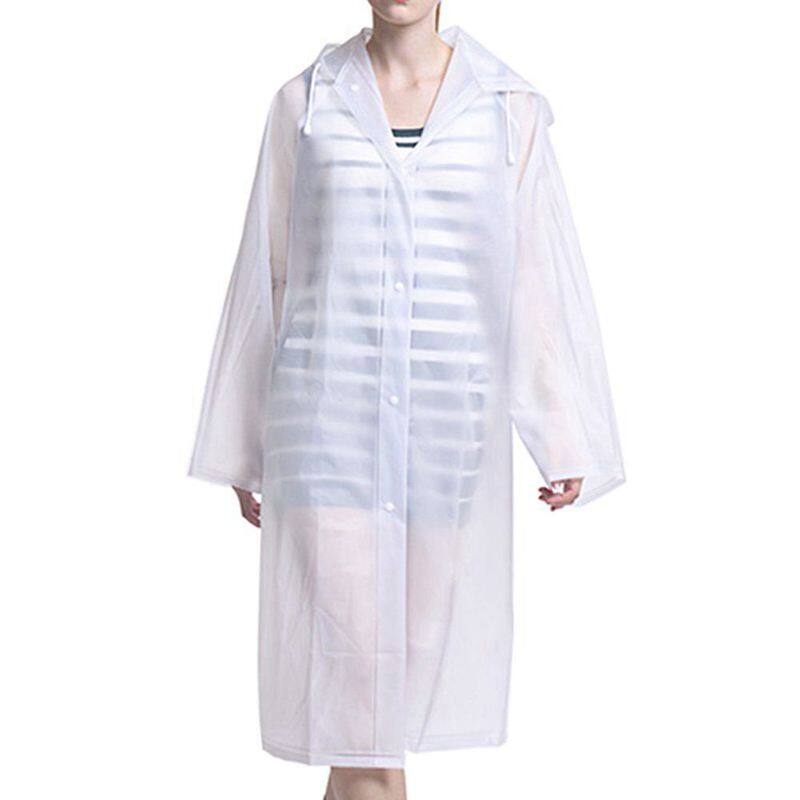 Giá bán Women Rainwear Men Rain Coat Transparent Raincoat NOT Disposable Waterproof Hooded Rain Cover impermeable Suit for fishing