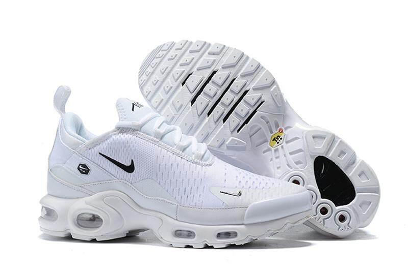 Nike Air Max Plus TN Men's Air Cushion Shoes Running Shoes Mesh Breathable White 40 46