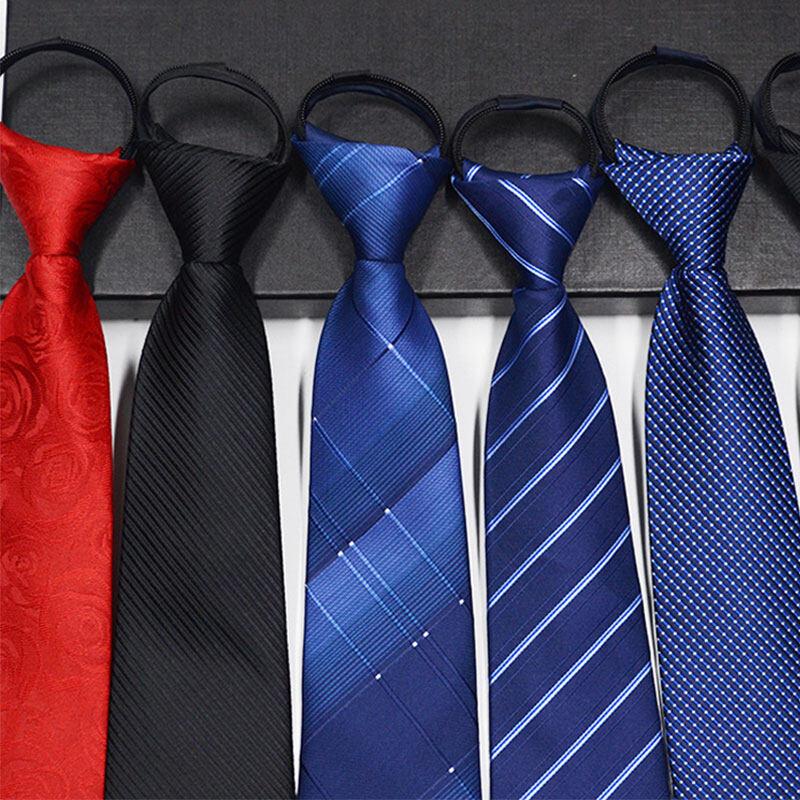 เนคไท ไม่ต้องผูก แบบซิป Men Zipper Tie Lazy Ties Fashion 8cm Business Necktie For Man Skinny Slim Narrow Bridegroom Party Dress Wedding Necktie Present.