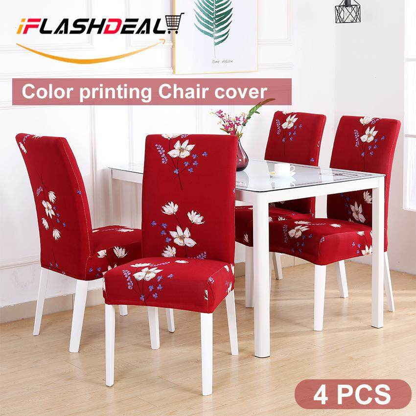 iFlashDeal Chair Cover Flower Patterns Elastic Chair Cover Removeable Washable Stretch Chair Cover Dining Chair Cover