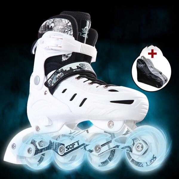 Mua Giày trượt băng, người lớn, thanh thiếu niên, trẻ em có đèn 8 bánh mỗi đôi SIZE S (30-34) SIZE M (35-38) SIZE L (39-42)