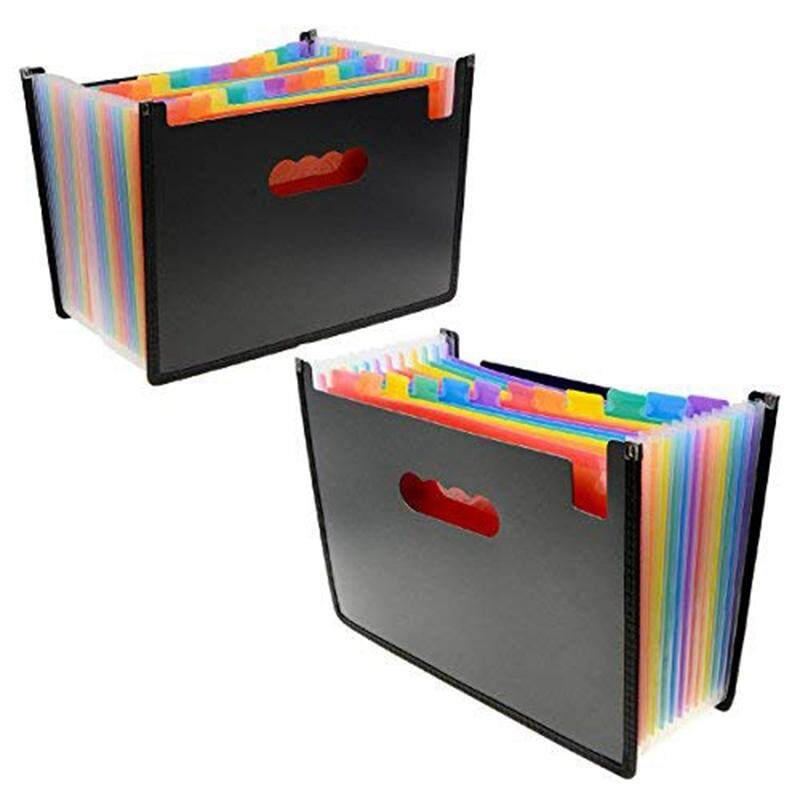 Mua File Folder Organizer 12 24 Pockets Document Organizer Wrap and File Guides, Multi-Color Accordion A4 Size with Expanding Wallet Stand for Business/Office/Study/Home