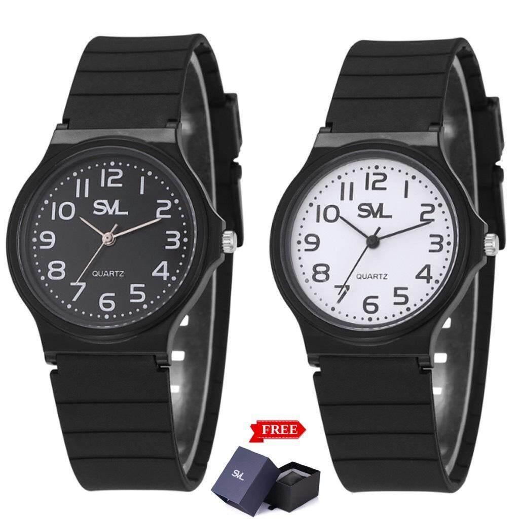 (ซื้อ 1 แถม 1 ! ลดฉลองสัปดาห์มงคล ! ) Svl นาฬิกาข้อมือ Unisex (แถมกล่องสวยหรู) รุ่น Mq-24 By Nine Face.