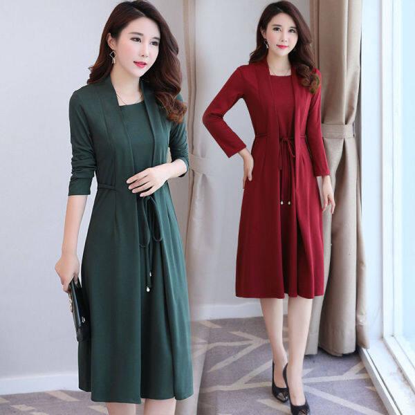 9029 Chen 2020 đã có một phiên bản Hàn Quốc mới về chiếc áo quấn tay áo giả hai mảnh của mẹ là mảnh mảnh thon và mảnh khảnh váy L07L