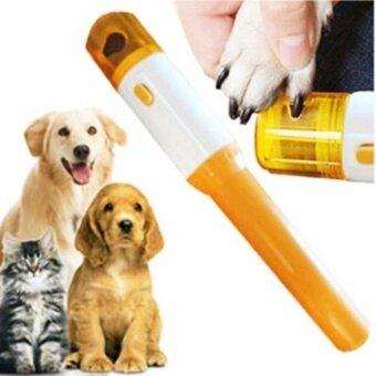 กรรไกรตัดเล็บแมว ที่ลับเล็บแมว ตะไบเล็บแมว แบบอัตโนมัติ ไร้สาย พร้อมตะไบ 3 ชุด Electric Pet Dog Cat Nail Trimmer Pedicure Tool