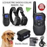 ซื้อ 300 เมตรจอแอลซีดีไฟฟ้าสัตว์เลี้ยงสุนัขการฝึกอบรมจากระยะไกลป้องกัน Bark สำหรับ 1 2 สุนัข Size3 นานาชาติ ถูก จีน