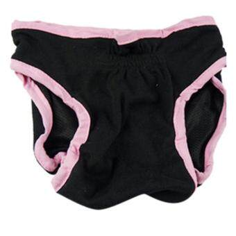 การส่งเสริม 360DSC Female Pet Dog Velcro Fixed Underwear Puppy Cat Diaper Sanitary Pants - Black L - intl ซื้อเลย - มีเพียง ฿131.18