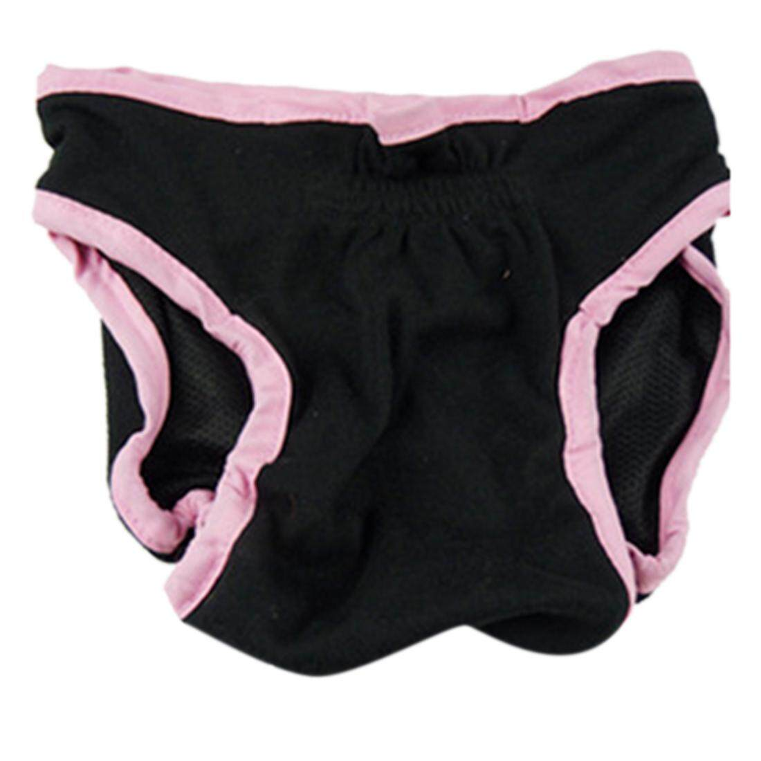 การส่งเสริม 360DSC Female Pet Dog Velcro Fixed Underwear Puppy Cat Diaper Sanitary Pants - Black L - intl hot deal - มีเพียง ฿144.00