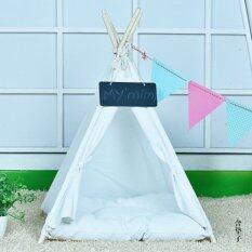 ราคา 40 X 40 X 50Cm Kennel Pet Nest Pet Dog Tent Dog Bed White Intl Unbranded Generic ใหม่