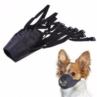 เบอร์ 6 ขนาด 22 cm. ตะกร้อครอบปากสุนัข กันเห่า กัด สัตว์เลี้ยง ไนล่อนปรับหน้ากากเห่ากัดปากนุ่มตะกร้อกรูมมิ่งป้องกันหยุดเคี้ยวสำหรับสุนัข ขนาดเล็ก-ใหญ่