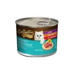 Bellotta Tuna In Gravy เบลลอตต้ากระป๋อง ปลาทูน่าในน้ำเกรวี่ เสริมลูทีนและน้ำมันทานตะวัน 185 กรัม จำนวน 96 กระป๋อง By T.u. Pet Shop.