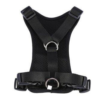 Breathable Adjustable Nylon Dog Pet Seat Belt Car Harness Walking Vest M (Black) - intl