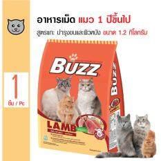 ขาย Buzz อาหารเม็ด สูตรเนื้อแกะ บำรุงขนและผิวหนัง สำหรับแมวโตอายุ 1 ปีขึ้นไป ขนาด 1 2 กิโลกรัม ราคาถูกที่สุด