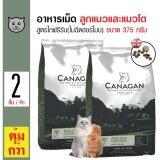 ซื้อ Canagan อาหารแมว สูตรเนื้อไก่เลี้ยงอิสระ สำหรับแมวทุกวัย ทุกสายพันธุ์ ขนาด 375 กรัม X 2 ถุง ถูก