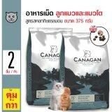 Canagan อาหารแมว สูตรสคอททิชแซลมอน บำรุงผิวหนังและขน สำหรับแมวทุกวัย ทุกสายพันธุ์ ขนาด 375 กรัม X 2 ถุง ถูก
