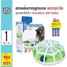 ราคา Catit Roundabout ของเล่นแมว ของเล่นถาดลูกบอลหมุนได้ ชนิดใส่ถ่าน สำหรับแมวทุกวัย แถมฟรี ถ่าน Aa 3 ก้อน ใน กรุงเทพมหานคร