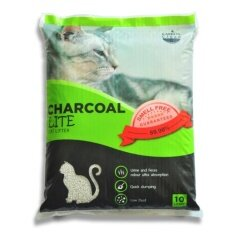 ราคา Charcoal Sand 10 Litres X 2 Units ทรายแมวจากถ่านกัมมันต์และเบนโทไนท์ สูตรไลท์ ฝุ่นน้อย 89 98 10 ลิตร จำนวน 2 ถุง Charcoal Sand