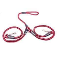 ราคา เชียร์สายจูงไนลอนที่แข็งแรงเชือกรองเท้าคู่หนึ่งลากถักเปียเชือกสีแดง ถูก