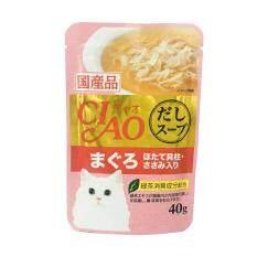 ขาย Ciao อาหารเปียกแมว ปลาทูน่า มากุโระ และหอยเชลล์ หน้าเนื้อสันในไก่ 40G Ic 211 16 Units Ciao ผู้ค้าส่ง