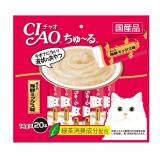ส่วนลด Ciao Churu ขนมแมวเลีย ชูหรู ปลาทูน่าเนื้อขาว จำนวน 20 ซอง Ciao