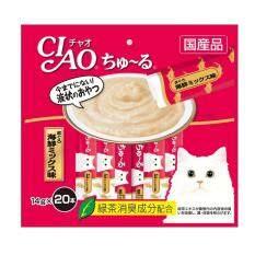 ขาย ซื้อ ออนไลน์ Ciao Churu ขนมแมวเลีย ชูหรู ปลาทูน่าเนื้อขาว จำนวน 20 ซอง