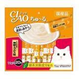 ขาย ซื้อ Ciao Churu ขนมแมวเลีย ชูหรู ปลาทูน่าผสมหอยเชลล์ จำนวน 20 ซอง Thailand