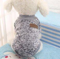 คลาสสิคตุ๊กตาหมาแมวเสื้อแจ็คเก็ตเสื้อผ้าแฟชั่นฤดูหนาวเสื้อกันหนาวอ่อนสำหรับชิวาวา Yorkie (สีเทา - เอส) - นานาชาติ By Sleeping Bag.