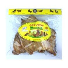 Dog Friend ขนมขบเคี้ยวสุนัข หูวัวอบแห้ง 150 กรัม (1 ถุง).