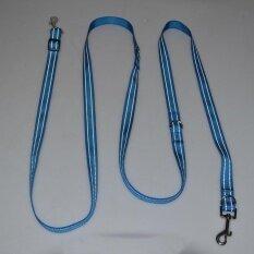 สายจูงสุนัขพันเป็นเปีย Dual ไนลอนสายจูงสำหรับสำหรับฝึกสุนัขสองตัว - Intl By Topshowvie.