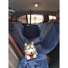 ซื้อ เบาะคลุมรถยนต์สำหรับสุนัข แผ่นรองกันเปื้อนสำหรับสุนัขในรถยนต์ แผ่นรองกันเปื้อนเบาะรถยนต์สำหรับสุนัข ผ้าคลุมสำหรับเบาะหลังรถเก๋ง รถ Suv ลายจุด สีกรมท่า Easymall