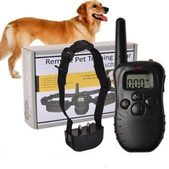 Electronic Dog Collar Remote Control Anti Bark With LCD Display 998D Electronic Dog Collar - intl