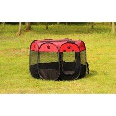 ขาย กรงสนาม กรงสุนัข พับได้ Elitefield Dog Cage Size 73Cmx73Cmx43Cm Red สีแด ใน กรุงเทพมหานคร