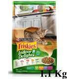 ขาย Friskies Indoor Delights 1 1 Kg ฟริสกี้ส์ รสปลาแซลมอนและผัก ขนาด 1 1 กิโลกรัม ถูก ไทย
