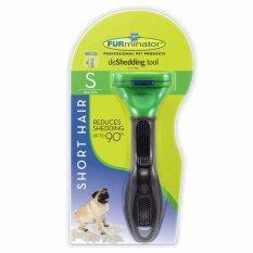 ส่วนลด Furminator แปรงหวีขนสุนัข กำจัดขนเสีย สำหรับสุนัขขนสั้น พันธุ์เล็ก ขนาด S