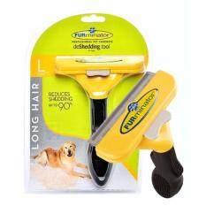 ซื้อ Furminator แปรงหวีขนสุนัข กำจัดขนเสีย สำหรับสุนัขขนยาว พันธุ์ใหญ่ ขนาด L Furminator ถูก