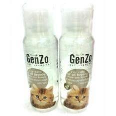 Genzo Cat Shampoo Sweet Pea Flowers สำหรับแมวทุกสายพันธุ์ กลิ่นดอกชาขาว สีขาว 240 Ml X 2 ขวด ใหม่ล่าสุด